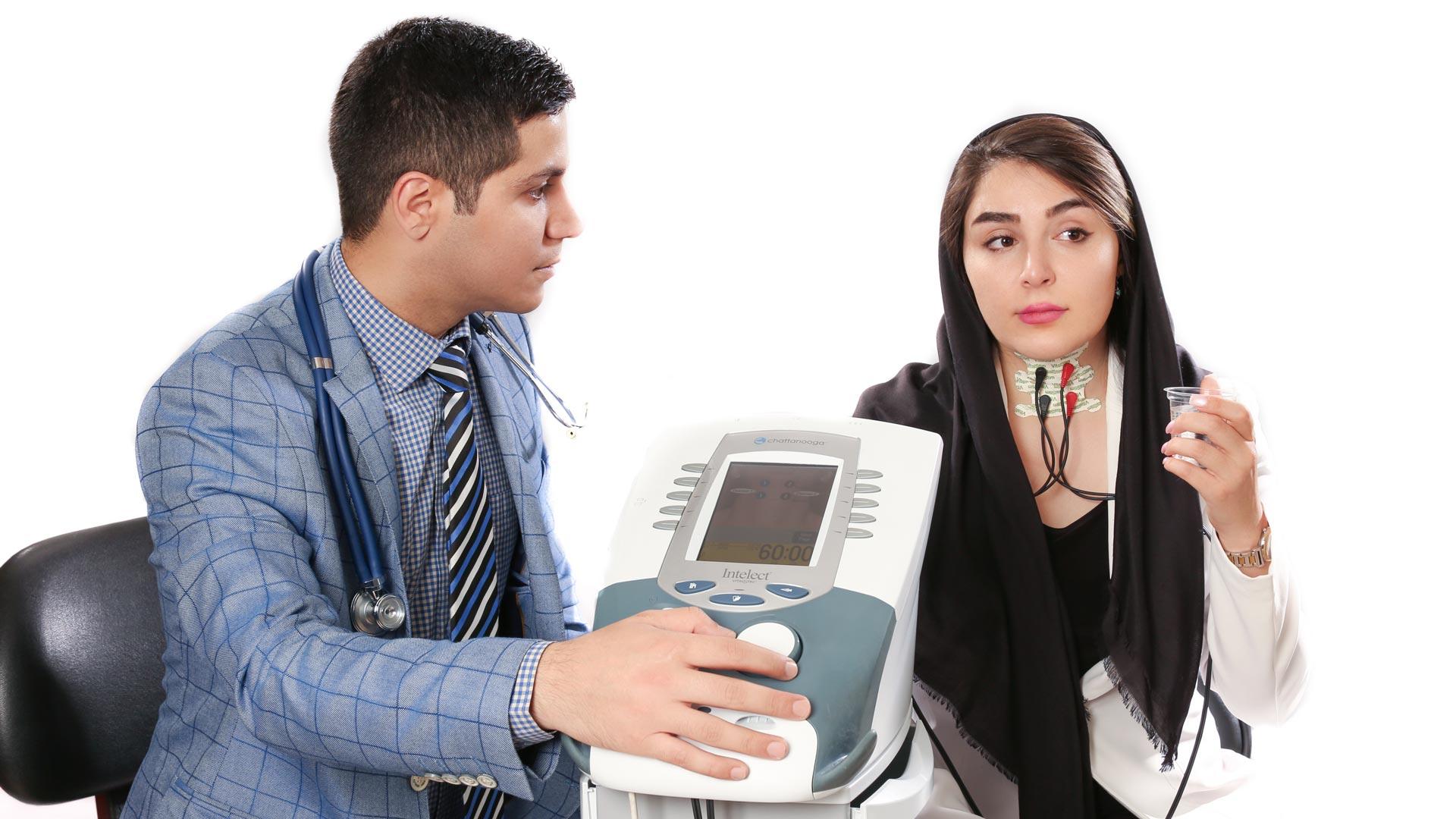 الکتروتراپی درمان اختلال بلع یا وایتال استیم